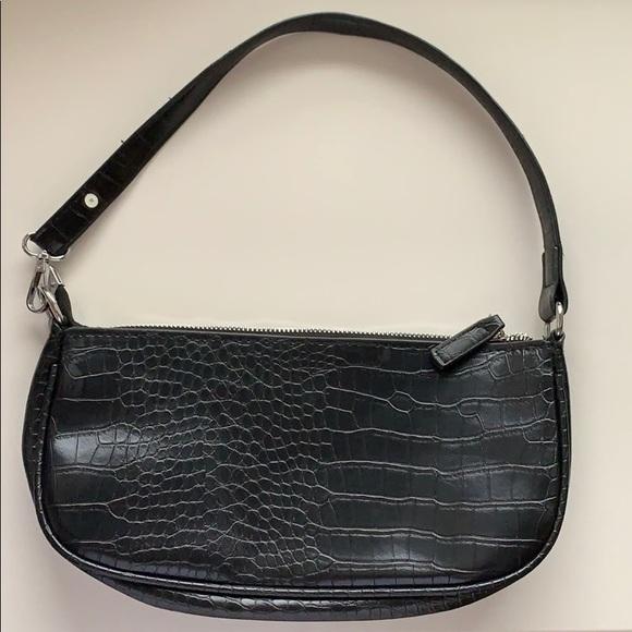 Forever 21 Handbags - Faux Croc Black Baguette